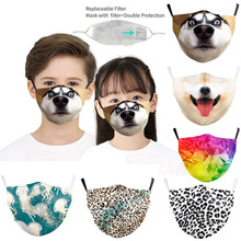 Mask Funny Protective Halloween Cosplay Cute Cotton for Face-Mouth-Mask Caretas Child