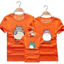 My Neighbor Totoro Tshirt Baby Girl Clothes Summer Mother And Daughter Matching Clothing Womens Big Size T-shirts Harajuku Tops(China)