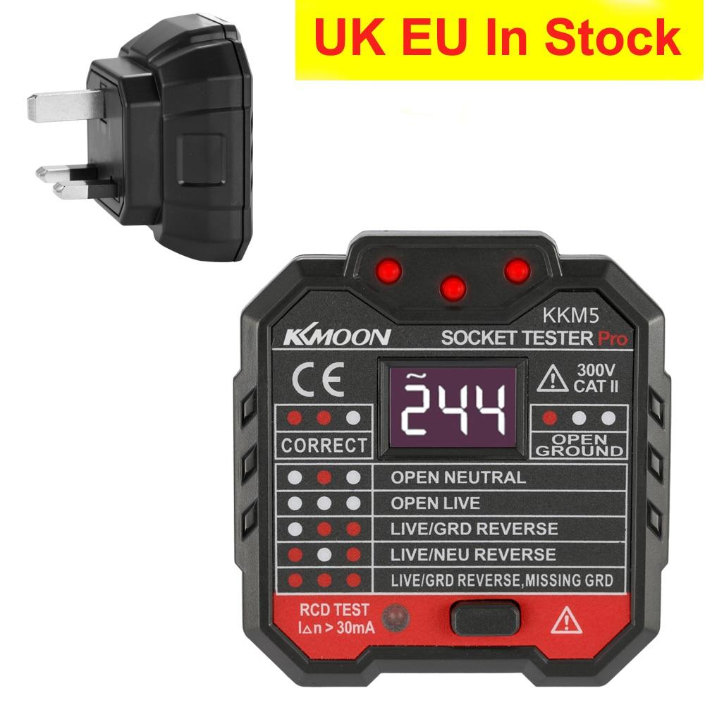 Image 2 - KKmoon KKM5 Mini Digital Socket Detector Power Socket Wiring Detection Wall Plug Breaker Finder RCD Test Socket Tester EU/UK/US-in Circuit Breaker Finders from Tools