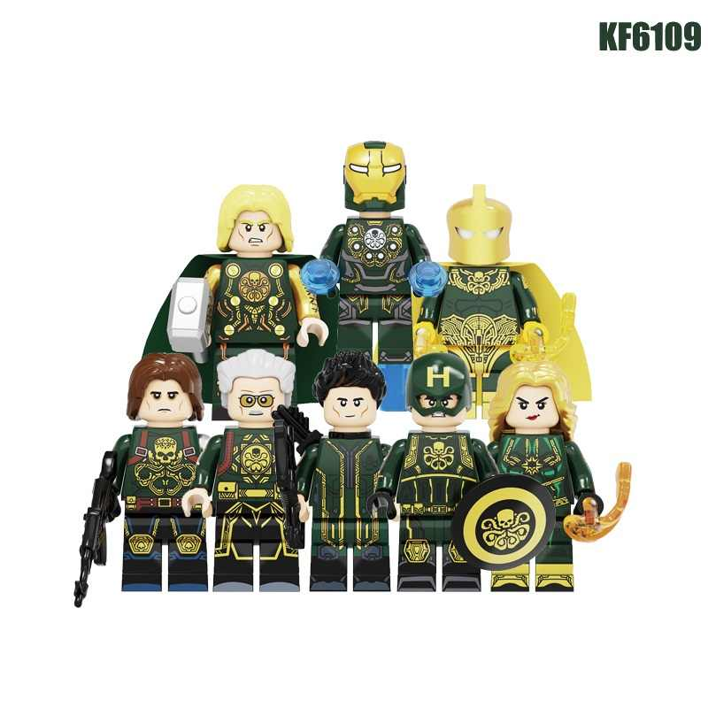 Single Sale Building Blocks Super Hero Hydra Doctor Fate Iron Man Captain America Thor Hawkeye Figures For Children Toys KF6109
