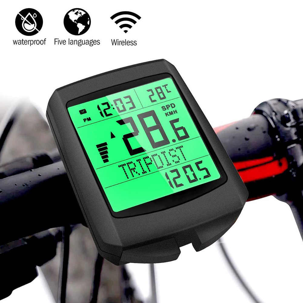 Wireless Bicycle Bike Cycle LCD Digital Computer Speedometer Odometer Waterproof