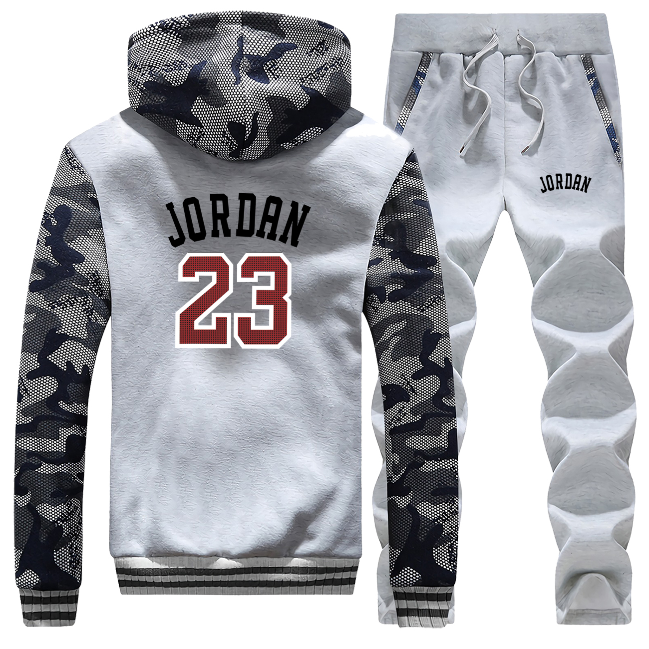 Jordan 23 Mens Tracksuit Set Male Warm Pants Brand Sweatshirt + Trousers Men Costume Hot Sports Clothes Male Tracksuit Men Suit