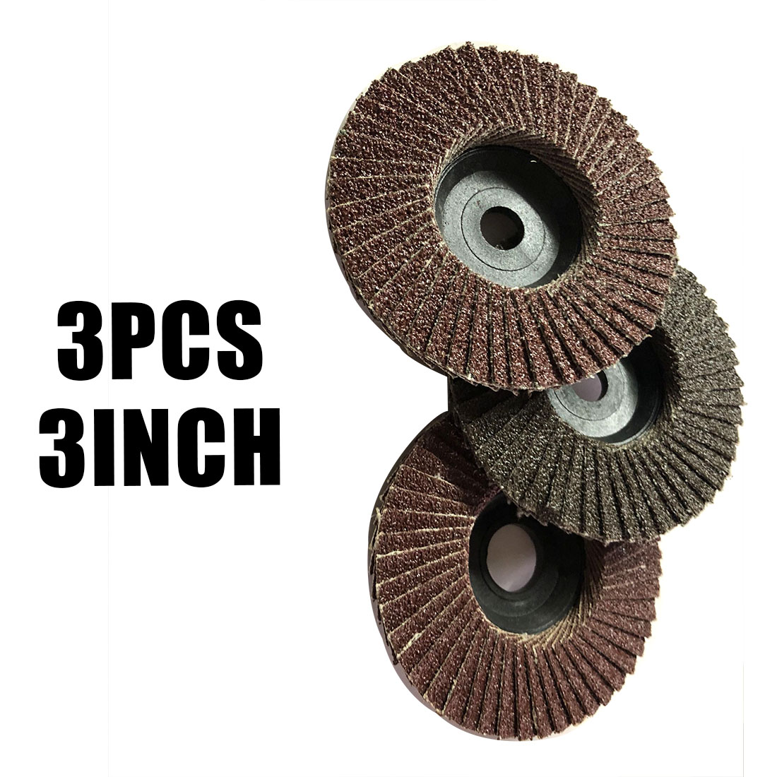3pcs 75mm 3-Inch Flap Sanding Disc Angle Grinder Discs Metal Grinding Wheel For Builders And DIY Enthusiasts