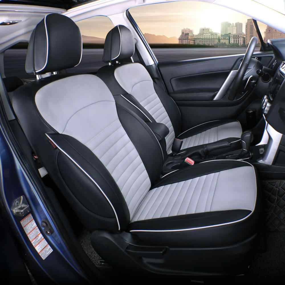 Leatherette Black EKR Custom Fit Full Set Seat Cover for Select Toyota RAV4 XSE Hybrid 2019 2020