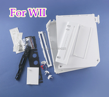 For Nintendo Wii Case Cover Housing Shell With Full Buttons Replacement With retail packing cover for wii accessories console