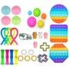 Toy Set Push Pops Fidget Sensory Toy for Adults Kids Autisim Special Needs Anti-stress Game Stress Relief Squishy Fidget Toys