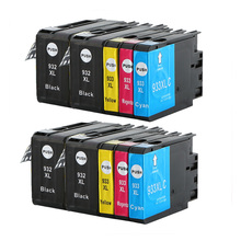 10PK  HP 932 933 XL 932XL 933XL Compatible for Ink Cartridge Officejet 6100/6600/6700 original for hp 932xl cn053ae black high capacity ink cartridge