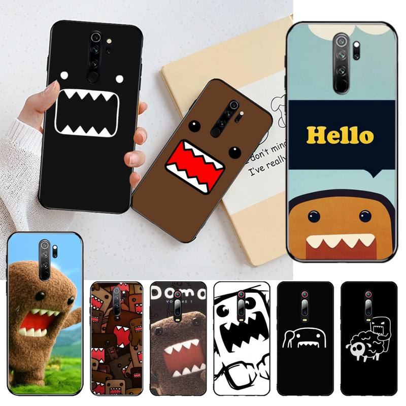 KPUSAGRT Domo Kun Bling Cute Phone Case for Redmi Note 9 8 8T 8A 7 6 6A Go Pro Max Redmi 9 K20