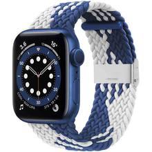 Bracelet de Sport pour Apple Watch iWatch série 6/SE/5/4/3, 38 40 42mm 44mm, boucle tressée Solo réglable, élastiques extensibles
