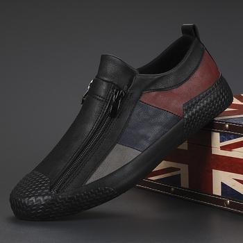 Męskie buty wulkanizowane wiosna jesień Designer Sneakers oddychające męskie mokasyny buty miękka podeszwa wygodne obuwie codzienne mieszkania tanie i dobre opinie ZENVBNV CN (pochodzenie) Na wiosnę jesień latex zipper Stałe Adult Poliester #20863 Mieszkanie (≤1cm) Dobrze pasuje do rozmiaru wybierz swój normalny rozmiar
