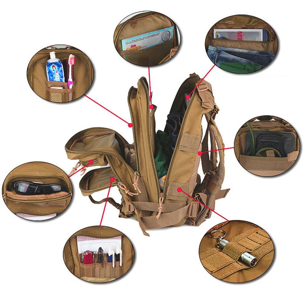 Outdoor Military Rucksacks 1000D Nylon 30L Waterproof Tactical backpack Sports Camping Hiking Trekking Fishing Hunting Bags 2