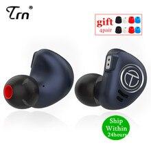 TRN V90 1DD 4BA Metal Headset Hybrid Units HIFI Bass Earbuds In Ear Monitor Earphones Noise Cancelling Earphone V80 ZSX V30 X6 C