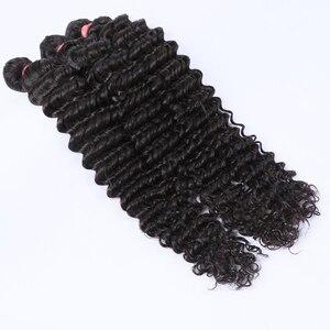 Волнистые бразильские волосы luvin, 3 пучка натуральных волос с фронтальной застежкой