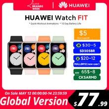 HUAWEI – montre connectée Watch, avec suivi du taux d'oxygène dans le sang, 10 jours d'autonomie, pour les entraînements, Version globale, en Stock