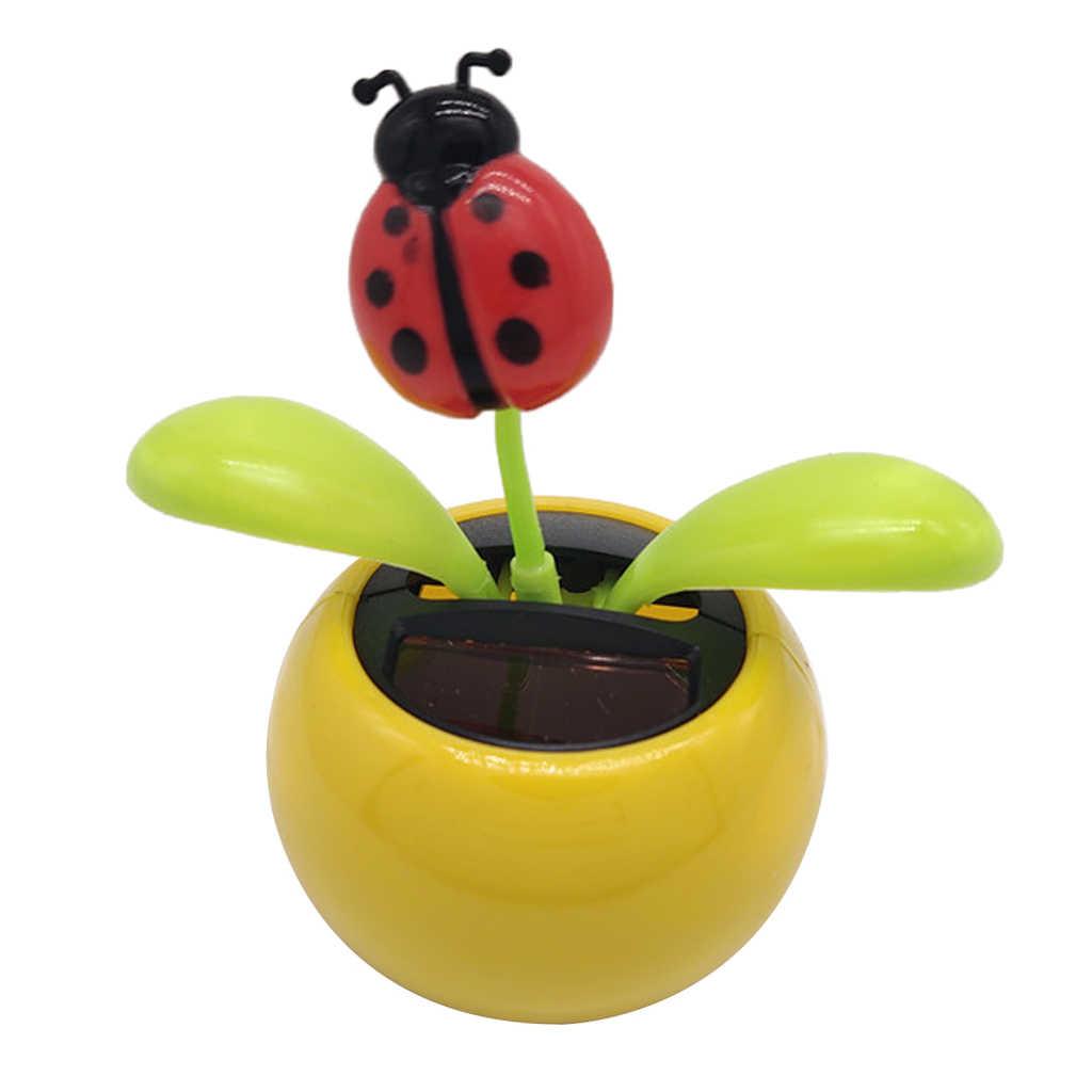 Zasilany energią słoneczną taniec słonecznik zabawka kwiat Bobble donica na rośliny huśtawka prezent