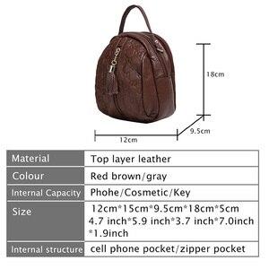 Image 2 - Genuine Leather Crossbody Bags for Women Fashion Female Bag Tassel Single Shoulder Bag Girls Small Purses and Handbags Designer