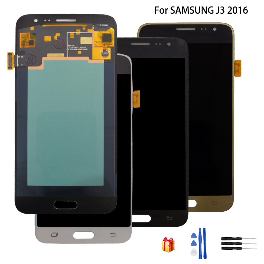 Super <font><b>AMOLED</b></font> For SAMSUNG Galaxy J3 2016 <font><b>J320</b></font> <font><b>LCD</b></font> Display <font><b>J320</b></font> J320FN Touch Screen + <font><b>LCD</b></font> Display Digitizer Assembly Replacement image