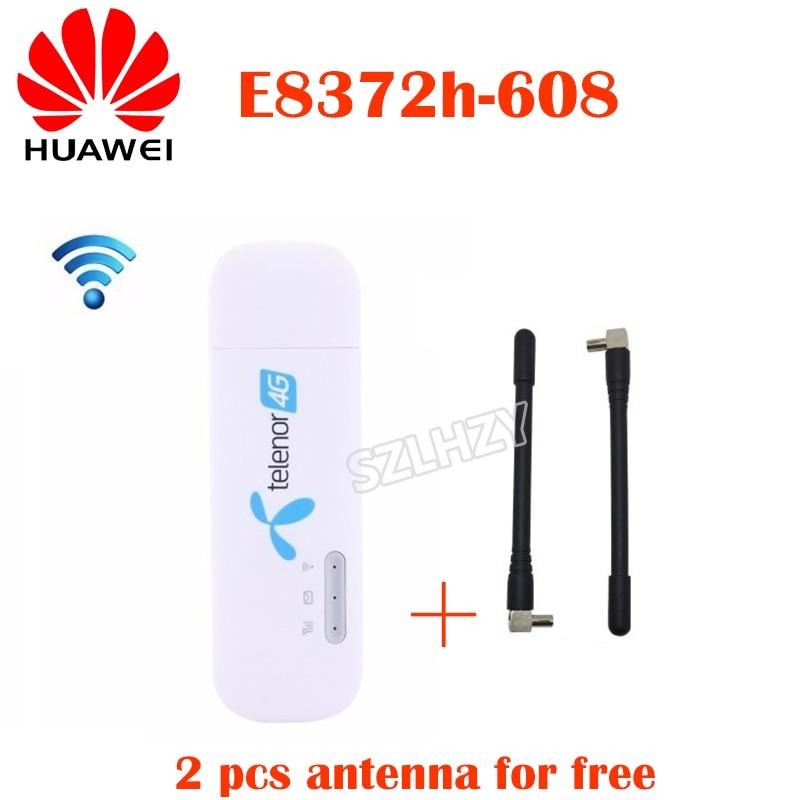 Unlocked Huawei E8372 E8372h-608 E8372h-153 Plus 2pcs Ts9 Antenna 4G LTE USB Dongle 4G Mobile Modem Hotspot Support 10 Wifi User