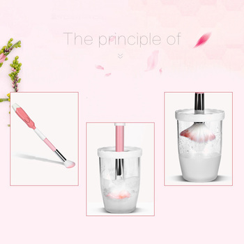 Wireless Electric Makeup Brush Cleaner Automatic Cosmetic Dryer Mini Makeup Brush Washing Cleaning Tool Set Multiple-sizes 5