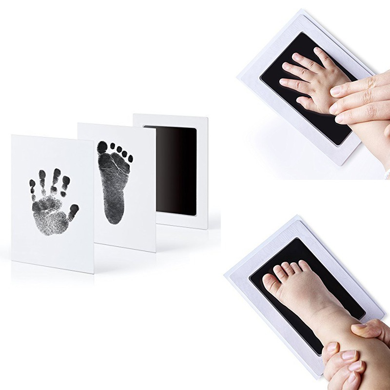 Baby Non-Toxic Handprint Footprint Kit Imprint Footprint Baby Souvenir Stamp Pad Ink Watermark Clay Toys