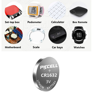Image 2 - 15Pcs/3 Karte CR 1632 BR1632 DL1632 ECR1632 KCR1632 LM1632 CR1632 3v lithium batterie 12Ah LiMO2 Batterie