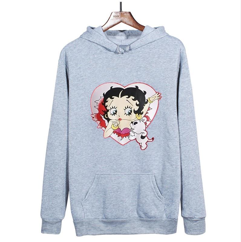 Plus Size sweatshirt Women Summer 2021 Spring Oversized Cute Print hoodie Cute Hip hop Kawaii Harajuku womens tops clothes 23