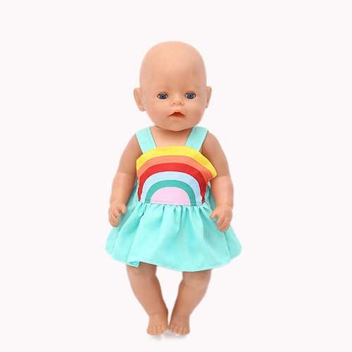 Gaya Baru Gaun Pakaian Cocok For17inch/43Cm Lahir Pakaian Boneka Boneka Aksesoris untuk Bayi Festival Hadiah