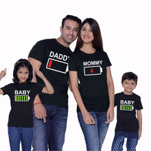 Dad and Me T-shirt Summer Mother Daughter Clothes Boys Girls Cotton Top Family Matching tal mae filha Big Sister