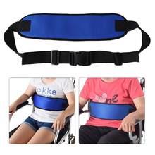 Correias ajustáveis respiráveis do chicote de fios da segurança do coxim da correia de assento da cadeira de rodas para pacientes idosos suportes confortáveis das cintas