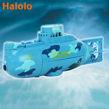 Halolo 6CH Mini Remote Control Submarine RC Speedboat High Speed Race Ship Rotation Outdoor Electric Toys Gift For Children