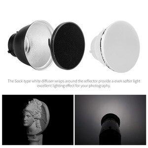 """Image 3 - Selens 7 """"18 см стандартная тарелка отражателя 20 40 60 градусов сотовая сетка мягкий диффузор Лампа Тень для стробоскосветильник Bowens"""