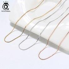 Orsa jóias italiano 925 caixa de prata esterlina corrente colar rosa ouro/banhado a ouro prata colares pescoço correntes para pingente SC07-G