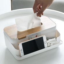 Прямоугольная деревянная коробка для салфеток Настольный ящик для хранения пультов дистанционного управления косметический Органайзер для макияжа держатель для дома и офиса
