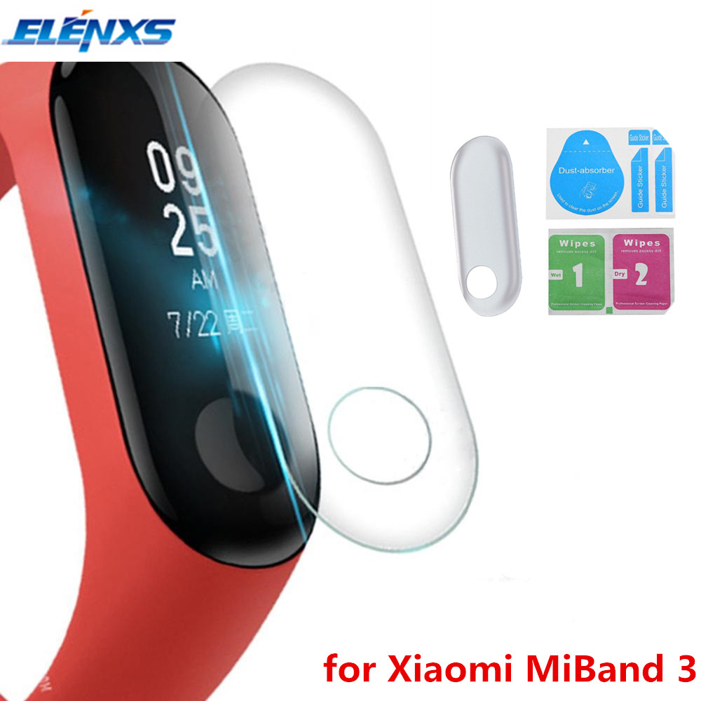 Hot 5/10Pcs Screen Protector Film For Xiaomi Mi Band 3 Smart Wristband Bracelet Full Cover Protective Films Not Tempered Glass