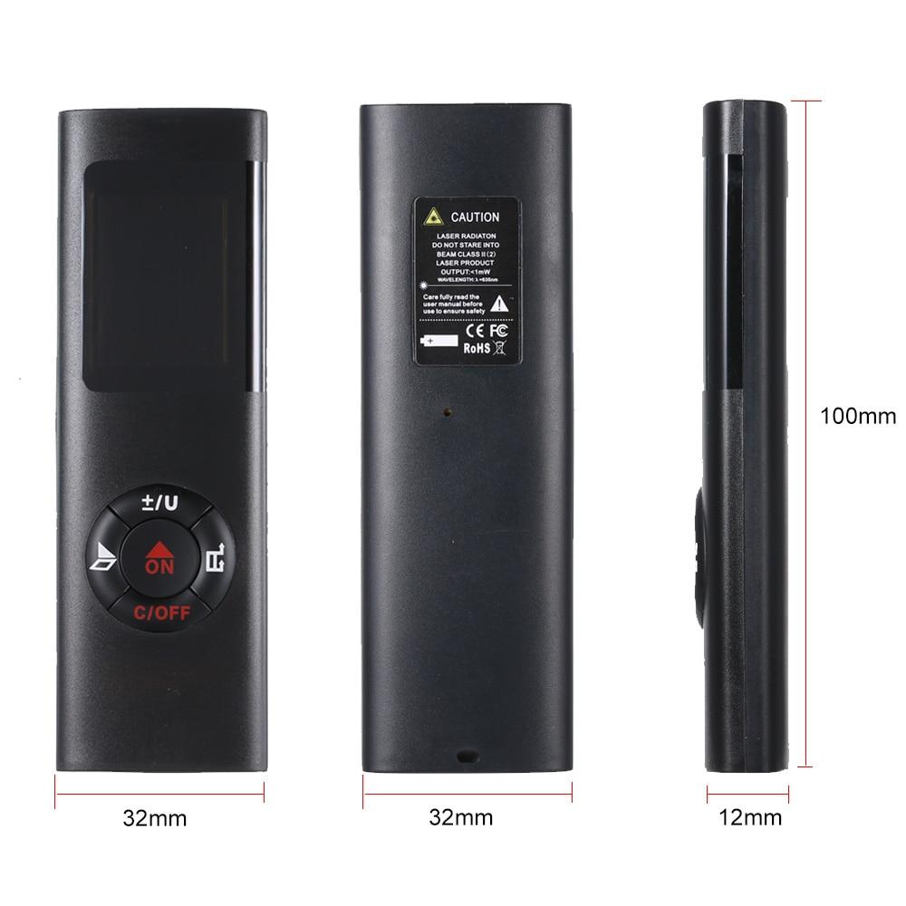 Laser Distance Meter  40M Smart Digital Range Portable USB Charging Rangefinder Mini Handheld Distance Measuring Meter