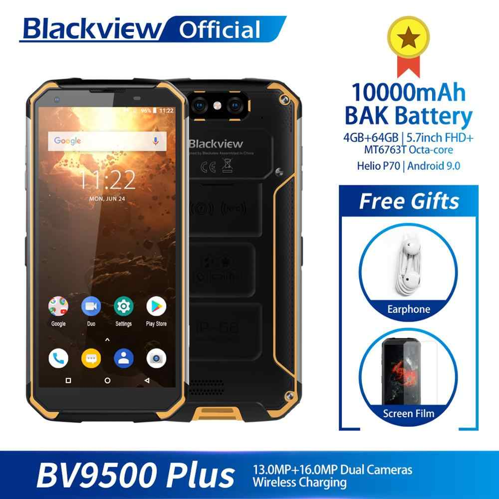 Blackview bv9500 plus 10000 mah ip68 impermeável 5.7 polegada fhd 18:9 helio p70 smartphone 4 gb + 64 gb 16.0mp câmera android 9.0