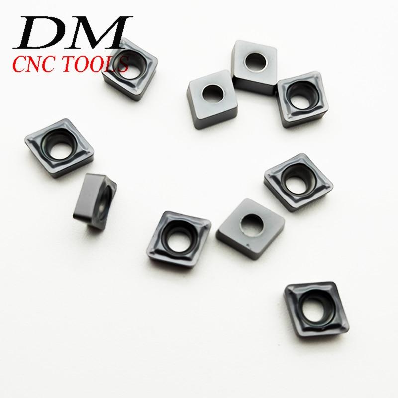 10pcs CCMT060204-SM IC907/CCMT060208-SM IC907/CCMT09T304-SM IC907/CCMT09T308-SM IC907 lathe machine tool Turning accessories