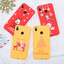 New year Christmas Cute Santa Claus Elk Snowman Phone Case For Xiaomi Redmi K20 Note 7 6 Pro Mi 9 SE 9T Pro Silicone Cover Coque(China)