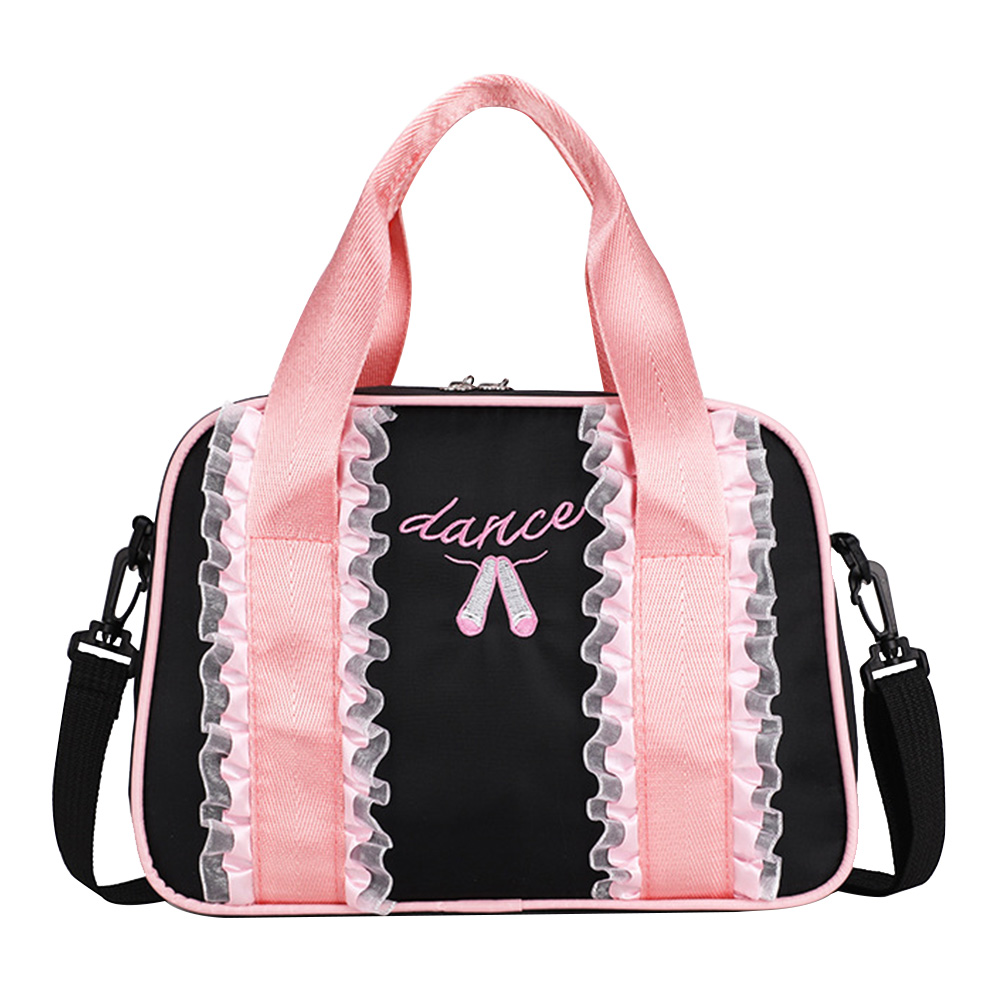 Girl Travel Outdoor Camping Portable Ballet Accessories Gymnastics Embroidered Tote Dance Handheld Duffle Bag Swimming Backpack