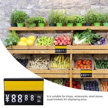3 sztuk wiszące metka z ceną stojak Supermarket metka z ceną wymazywalnej metka z ceną stojak Supermarket owoce i warzywa wiszące metka z ceną tanie i dobre opinie CN (pochodzenie) Flip chart price tags