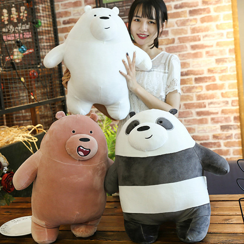 Новинка 25/30 см Милая панда медведи плюшевая игрушка мультяшный медведь мягкий серый медведь панда кукла Дети Любовь Подарки на день рождени...