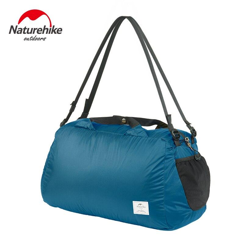 Naturehike 2020 Shoulder Bag 20D NylonSport Gym Bag 32L Folding Waterproof Ultralight Leisure Satchel Travel Camping Bag