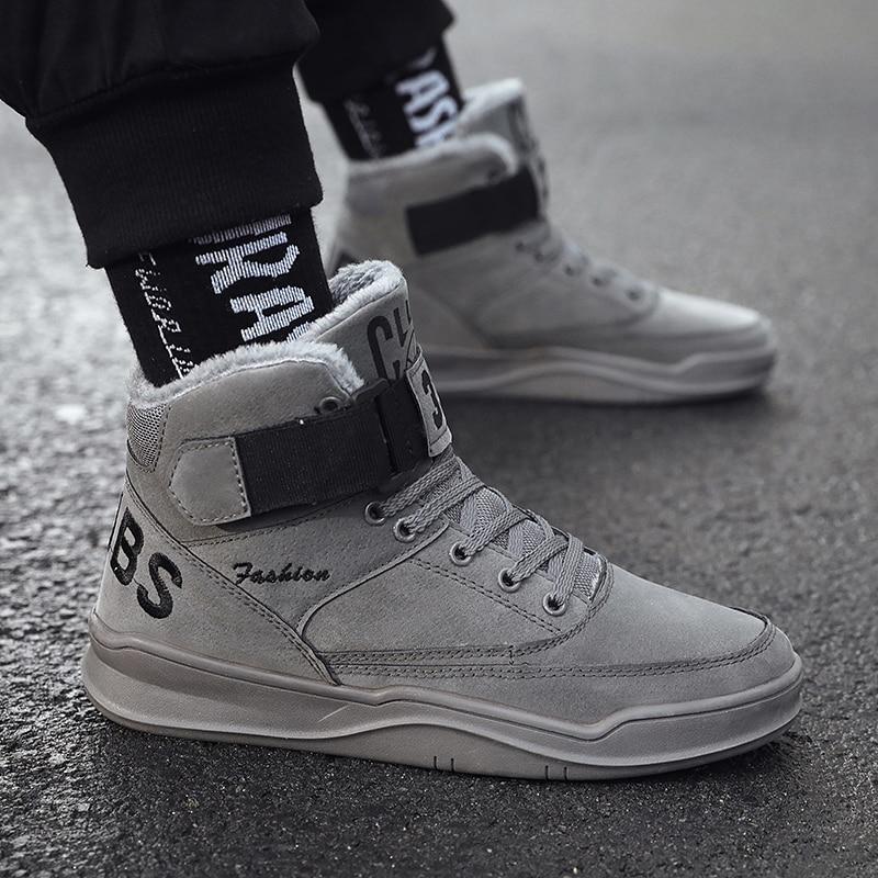 BIGFIRSE Men Sneakers Winter Lace-up Outdoor Man Fashion Sneaker Autumn/Winter Flats Shoes Zapatillas Hombre 2019 Men Sneakers