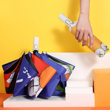 Parasol Sun-Umbrella Women Sunscreen Folding Rain Cartoon-Style Children Windproof New
