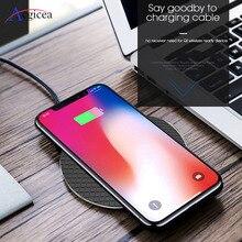 Chargeur sans fil Qi rapide 10W pour Samsung S10 S9 Plus Note 8 9 chargeur sans fil pour iPhone 11 Pro Max XR sans fil pour téléphone