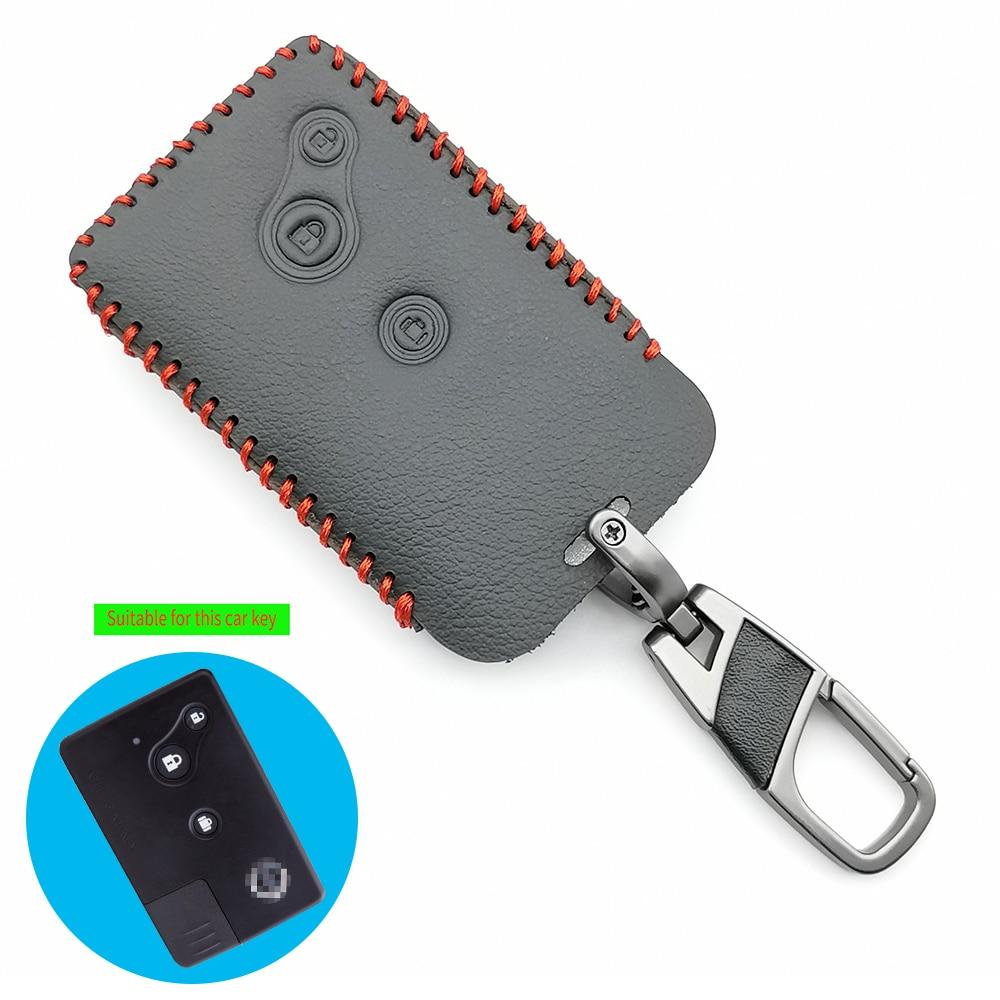 Высококачественный кожаный чехол для автомобильного ключа для Nissan Teana (старая модель), 3 кнопки, смарт-карта, дистанционный брелок для ключа