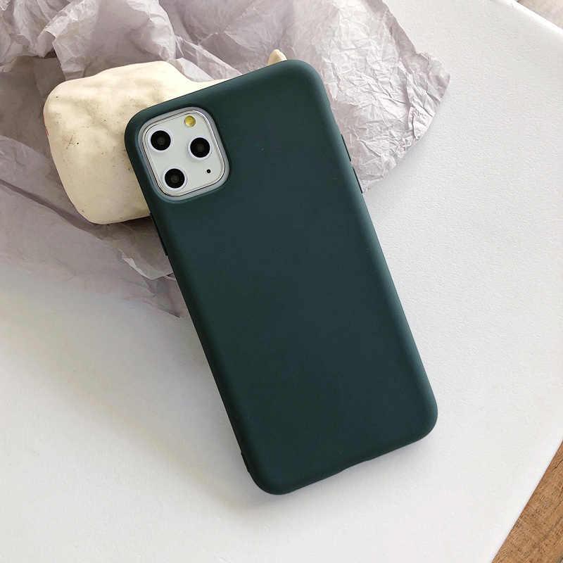 N1986N, carcasa de Color caramelo para iPhone 11 Pro X XR XS Max 6 6s 7 8 Plus, silicona suave de Color sólido Simple a la moda para iPhone SE 2020