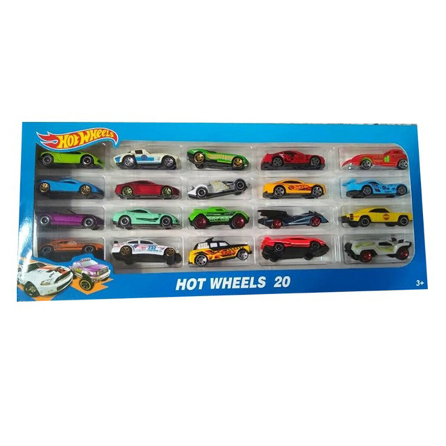 20 Piece Hot Wheels Cars Toy Gift Set Hot Sports Alloy Metal Diecasts Toy Vehicles Children Boys Christmas New Year Car Toy Gift