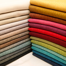 Linen Fabric Blackout Material for Curtain Polyester Tablecloth DIY Sewing Fabric per meter 50*150cm