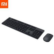 Оригинальный Xiaomi беспроводные клавиатуры и мыши комплект 104 ключей 2,4 ГГц Windows PC/MAC Совместимость Портативный USB клавиатура для офиса